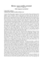 Riforma e nuovo modello contrattuale - Forges - Forum PA