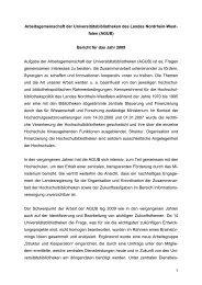 Bericht AGUB - Verband der Bibliotheken des Landes Nordrhein ...