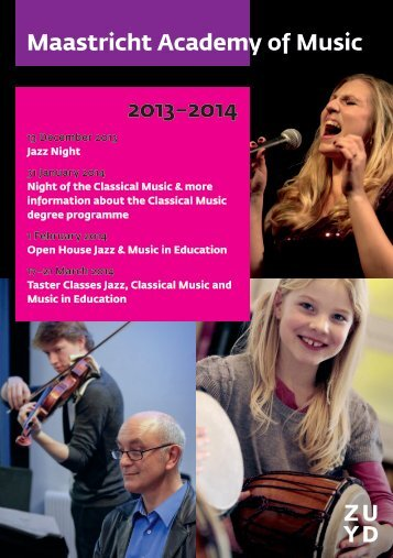 Maastricht Academy of Music 2013–2014 - Conservatorium Maastricht
