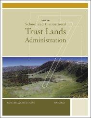 FY 2001 - 7th Annual Report - Utah Trust Lands