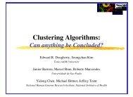 Clustering Algorithms: - Vision at IME-USP