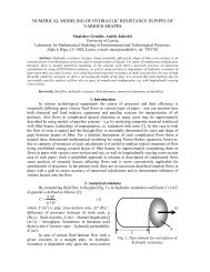numerical modeling of hydraulic resistance in pipes of various shapes