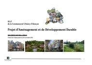 Projet d'Aménagement et de Développement Durable - Alençon