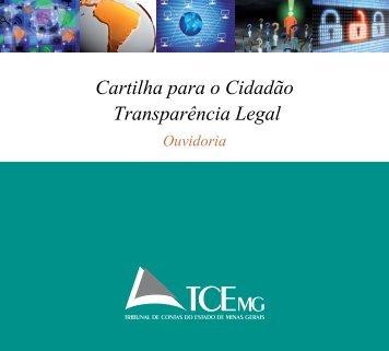 Cartilha para o Cidadão Transparência Legal - Tribunal de Contas ...