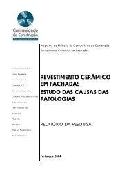 revestimento cerâmico em fachadas estudo das causas das ...