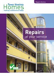Repairs at your service - Tower Hamlets Homes