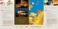 Flyer Herbst-Arrangements als PDF - Hotel zum Torkel