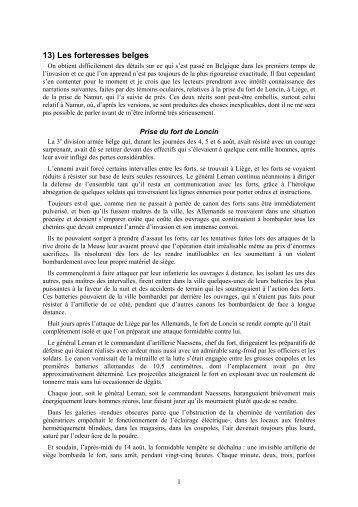 13) Les forteresses belges - IDES et Autres