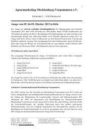 Anuga 2013 - AGRARMARKETING Mecklenburg-Vorpommern eV