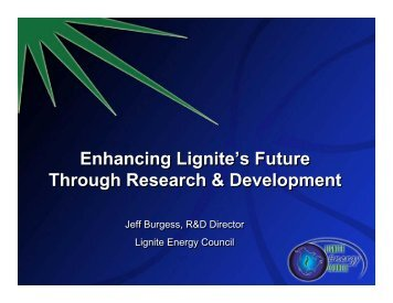 Current energy conversion technologies - Lignite Energy Council
