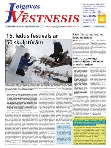 2013.gada 7.februāris Nr.6(293) - Jelgavas Vēstnesis