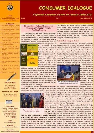 Newsletter(Jan. - March, 2012) - Center For Consumer Studies(ccs)