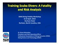 Training Scuba Divers: A Fatality and Risk Analysis