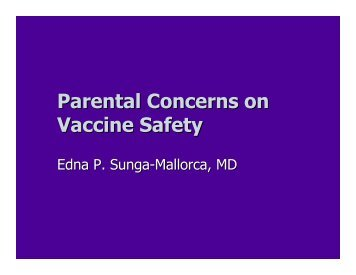 Parental Concerns on Vaccine Safety - Pediatric Infectious Disease ...