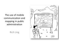 The use of mobile communication and mapping in public ...