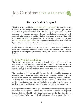 Garden Project Proposal-Final - Jon Carloftis