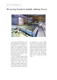 Wernsing Feinkost GmbH, Addrup-Essen - PSI Logistics GmbH