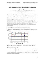Note on the sensitivity of stainless steels to strain rate - International ...