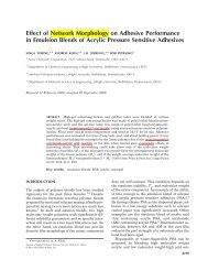 Effect of network morphology on adhesive performance in emulsion ...