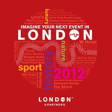 imagine your next event in - London & Partners