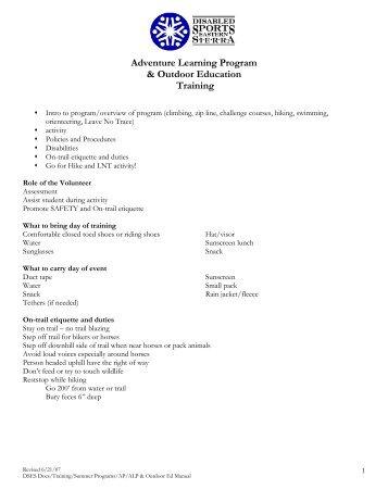 Adventure Learning Program & Outdoor Education Training