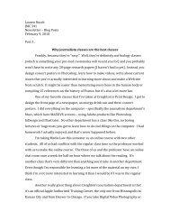 Lauren Rusch JMC 341 Newsletter – Blog Posts February 9, 2010 ...