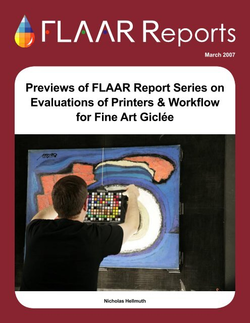 Previews of FLAAR Report Series on Evaluations of Printers ...