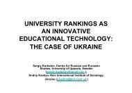 Dr. Sergiy Kurbatov&Andriy Kashyn - International Observatory on ...