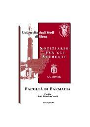 Università degli Studi di Siena N OTIZIARIO PER GLI S ... - Farmacia