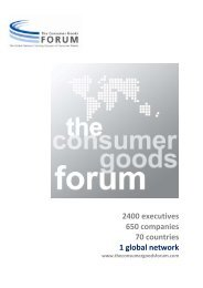 the board of directors - Consumer Goods Forum