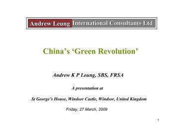 Download China's Green Revolution - Andrew Leung International ...