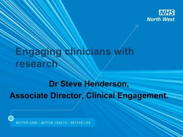 Engaging clinicians with research