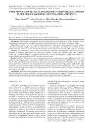 Biomed Pap Med Fac Univ Palacky Olomouc Czech Repub. 2011 Mar