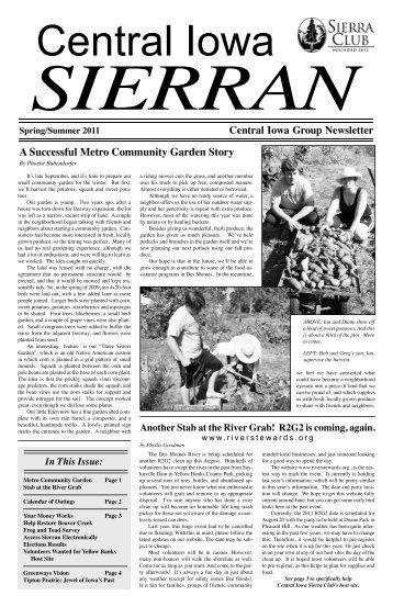 A Successful Metro Community Garden Story - Sierra Club Iowa ...