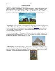 Stages of History - Blog IES Pedro Jiménez Montoya