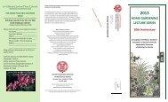 2013 Home Gardening Lecture Series - Cornell University