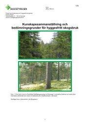 Kunskapssammanställning och bedömningsgrunder - Skogsstyrelsen