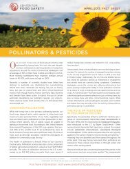 fact sheet on Pollinators & Pesticides - Center for Food Safety