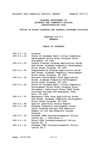 chapter 305-5-1 general - Alabama Administrative Code