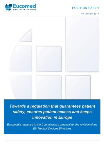 Eucomed position paper - MedTech Europe