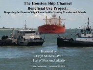 The Houston Ship Channel Beneficial Use Project - Restore ...