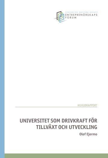 Universitet som drivkraft för tillväxt och Utveckling - Humanekologi ...