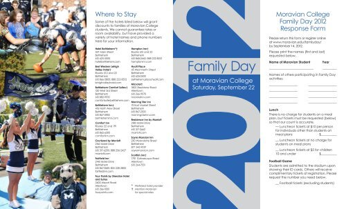 Family Day - Moravian College