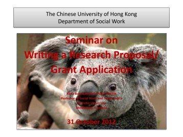 research questions - hcyuen@swk.cuhk.edu.hk - The Chinese ...