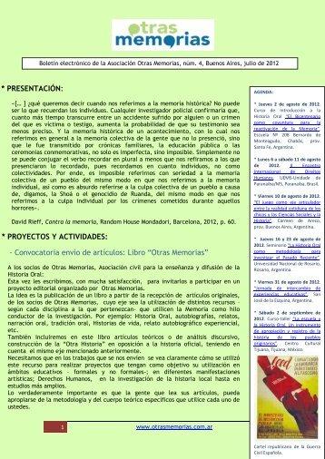 OM 4 (julio 2012).pdf - Otras Memorias