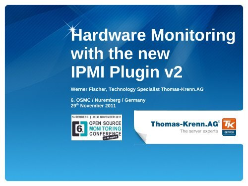 Hardware Monitoring With The New Ipmi Plugin V2 Thomas Krenn Ag