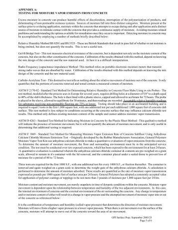 Testing for moisture vapor emission form concrete (pdf) - Protective ...