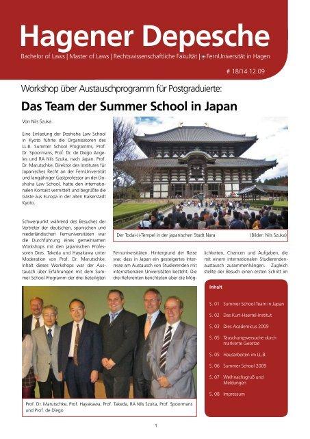 Hagener Depesche Nr. 18 - FernUniversität in Hagen