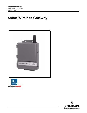 Smart Wireless Gateway - Manual - Emerson Process Management ...