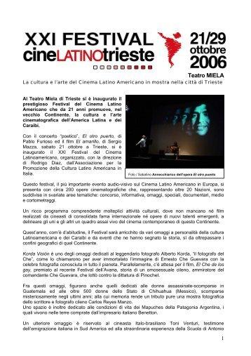 La cultura y el arte del Cine Latino Americano se exhiben a Trieste
